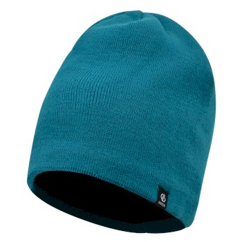 Men's Rethink Embroidered Beanie Hat Ocean Depths
