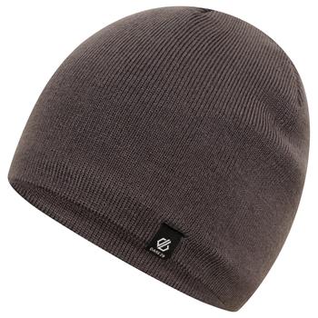 Men's Rethink Embroidered Beanie Hat Ebony Grey