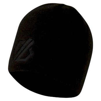 Men's Rethink Embroidered Beanie Hat Black