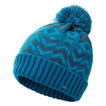 Men's Legendary Fleece Lined Knit Bobble Beanie Petrol Blue Methyl Blue