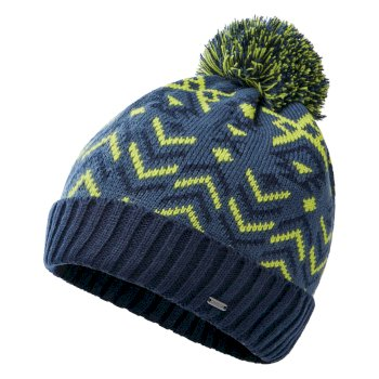 Men's Legendary Fleece Lined Knit Bobble Beanie Nightfall Navy Dark Denim