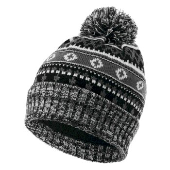 La Collection Jenson Button - Bonnet polaire tricoté Homme DAUNTLESS II avec pompon Noir