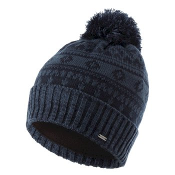 La Collection Jenson Button - Bonnet polaire tricoté Homme DAUNTLESS II avec pompon Bleu