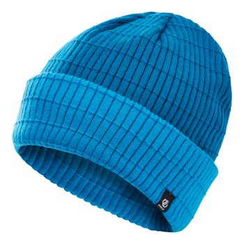 Men's On The Ball II Fleece Lined Ribbed Beanie Petrol Blue Methyl Blue