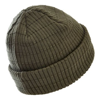 Men's On The Ball II Fleece Lined Ribbed Beanie Deep Depths Khaki