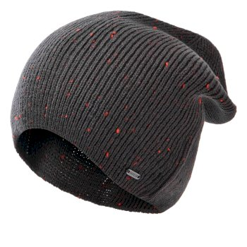Men's Thesis II Ribbed Beanie Ebony Grey Trail Blaze