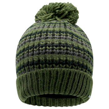 La Collection Jenson Button - Bonnet polaire tricoté Homme MIND OVER II avec pompon Vert