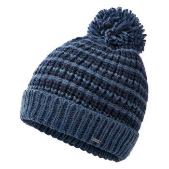 Men's Mind Over II Fleece Lined Knit Bobble Beanie Nightfall Navy Dark Denim