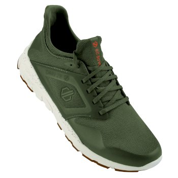 Men's Rebo Trainers Olive Shock Orange