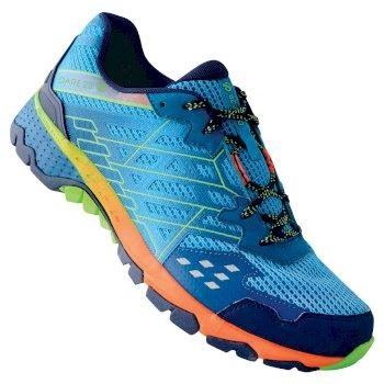 Men's Razor II Shock Absorbing Trail Shoes Atlantic Blue Jasmine Green