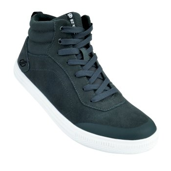 Men's Cylo High Top Trainers Briar Grey Black