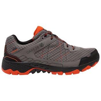 Men's Viper Walking Shoes Aluminium Grey Trail Blaze Red