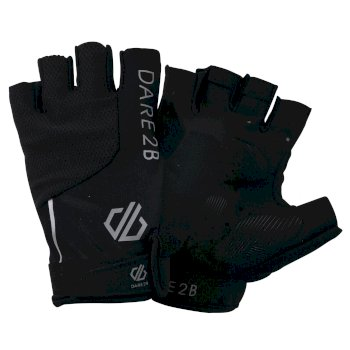 Men's Forcible Fingerless Cycling Gloves Black