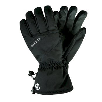 Men's Hold On Stretch Ski Gloves Black