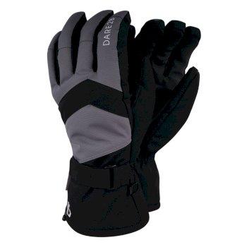 Men's Probity Stretch Ski Gloves Black Aluminium Grey