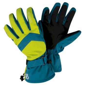 Men's Probity Stretch Ski Gloves Ocean Depths Citron Lime