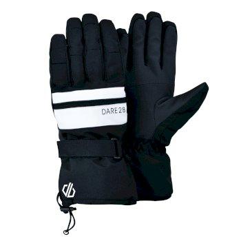 Men's Hold On II Waterproof Insulated Ski Gloves Black White