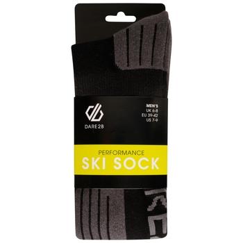 The Jenson Button Edit - Men's Performance Ski Socks Black Ebony Grey