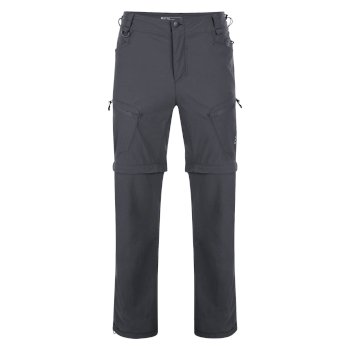 Pantalon zip extérieur Tuned In Ebony/Grey