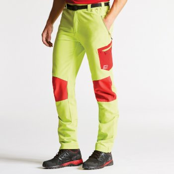 Men's Paradigm Softshell Hiking Trousers Lime Punch