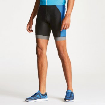 Men s Sidespin Gel Cycling Shorts Black National Blue d471dad66