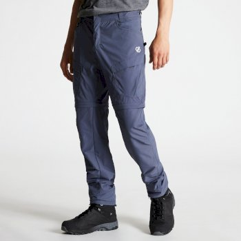 Men's Tuned In II Multi Pocket Zip Off Walking Trousers Quarry Grey