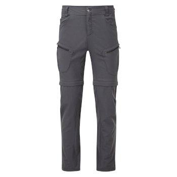 Men's Tuned In II Multi Pocket Zip Off Walking Trousers Ebony Grey