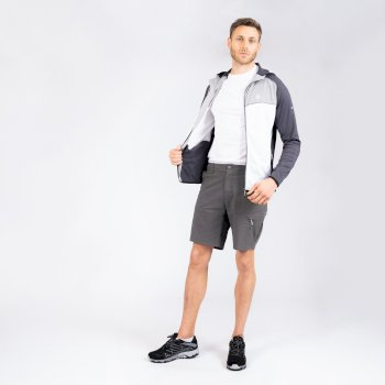Men's Tuned In II Multi Pocket Walking Shorts Aluminium Grey