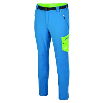 Men's Disport Lightweight Multi Pocket Walking Trousers Petrol Blue