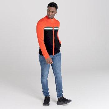 Pull zippé Homme DUTIFUL  Orange