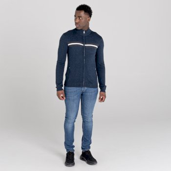 Pull zippé Homme DUTIFUL  Bleu