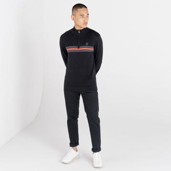 Men's Dutiful Half Zip Sweater Black