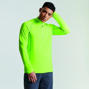 Men's Fuseline Core Stretch Midlayer  Electric Lime