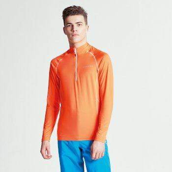 Men's Interfuse Core Stretch Midlayer Vibrant Orange