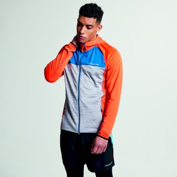 Men's Ratify II Lightweight Hoodie Pumpkin Orange/Ash Grey