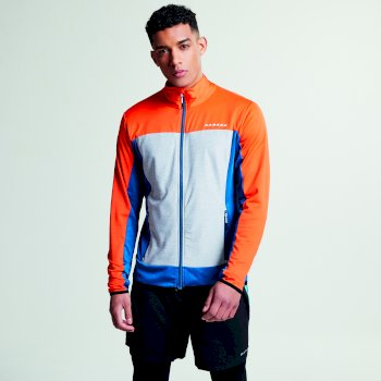 Men's Correlate Core Stretch Midlayer Jacket Kingfisher Pumpkin