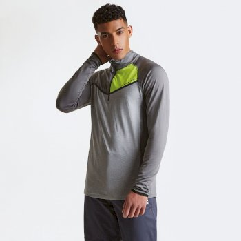 Men's Breaker Half Zip Core Stretch Midlayer Asteroid Grey Ash Grey Marl