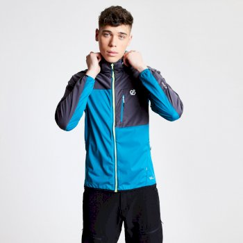 Veste Softshell technique et ergonomique Homme PARAMOUNT- Meteor Grey Marl/Black Bleu
