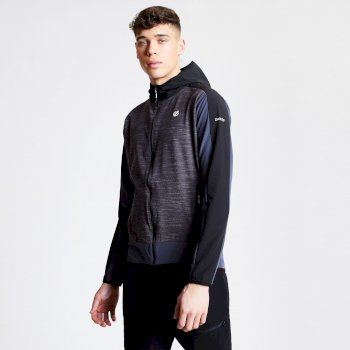 Men's Appertain II Lightweight Softshell Jacket Charcoal Grey Marl Black
