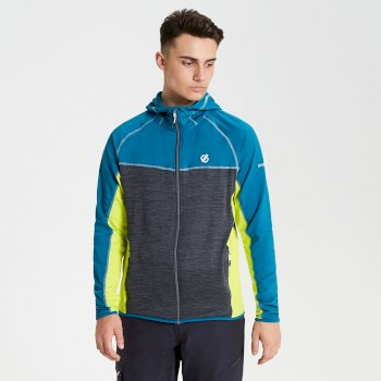 Men's Ratified Lightweight Hooded Core Stretch Midlayer  Charcoal Citron Lime