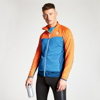 Men's Riform Lightweight Core Stretch Midlayer Atlantic Blue Blaze Orange