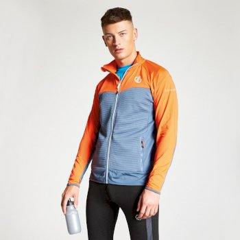 Men's Riform Lightweight Core Stretch Midlayer Meteor Grey Blaze Orange