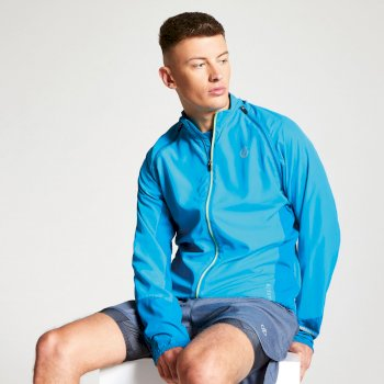 Men's Oxidate Lightweight Windshell Jacket Petrol Atlantic Blue