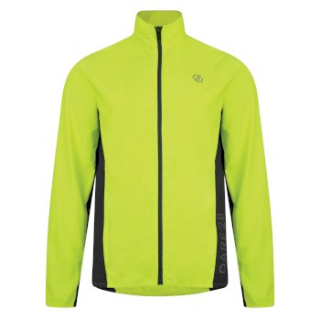 Men's Ablaze Lightweight Windshell Jacket Fluro Yellow Black