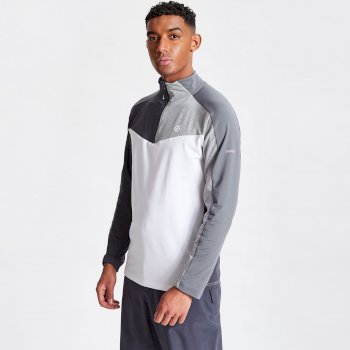 Men's Depose Half Zip Core Stretch Midlayer Black Ebony Grey