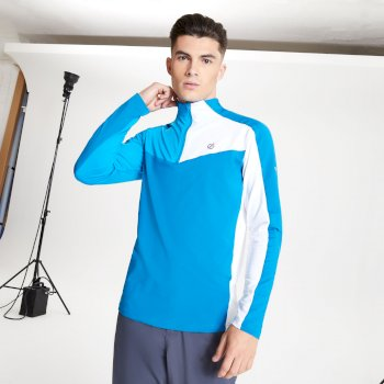 Men's Depose Half Zip Core Stretch Midlayer Petrol Blue Methyl Blue