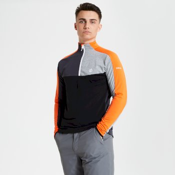 Men's Depose Half Zip Core Stretch Midlayer Clementine Black
