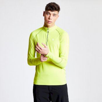 Men's Interfused Half Zip Core Stretch Midlayer Citron Lime