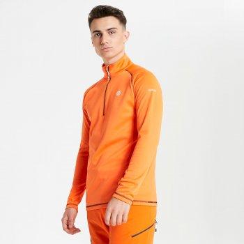 Polaire technique Homme FUSE UP avec ouverture 1/2 zip Orange