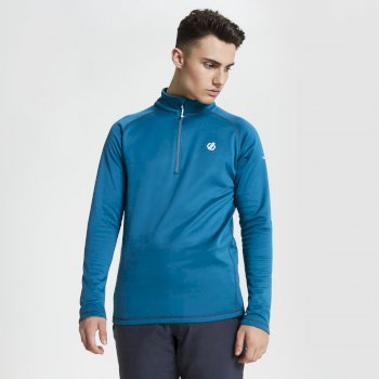 Polaire technique Homme FUSE UP avec ouverture 1/2 zip Bleu